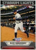 2011 Topps Opening Day Stadium Lights Alex Rodriguez Baseball Card