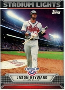 2011 Topps Opening Day Stadium Lights Jason Heyward Baseball Card