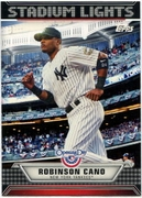2011 Topps Opening Day Stadium Lights Robinson Cano Baseball Card