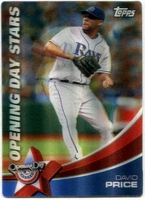 2011 Topps Opening Day Stars 3D David Price Baseball Card
