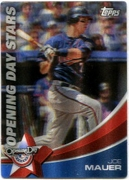 2011 Topps Opening Day Stars 3D Joe Mauer Baseball Card