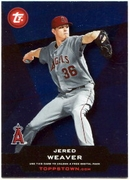 2011 Topps Opening Day Topps Town Codes Jered Weaver Baseball Card