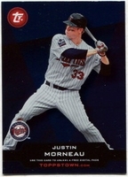 2011 Topps Opening Day Topps Town Codes Justin Morneau Baseball Card