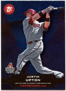 2011 Topps Opening Day Topps Town Codes Justin Upton Baseball Card