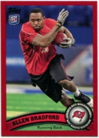 2011 Topps Red Allen Bradford NFL Football Card