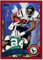 2011 Topps Red Andre Johnson NFL Football Card