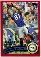 2011 Topps Red Anquan Boldin Record Breaker NFL Football Card