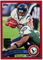 2011 Topps Red Arian Foster NFL Football Card