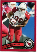 2011 Topps Red Beanie Wells NFL Football Card