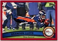 2011 Topps Red Brandon Lloyd NFL Football Card