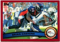 2011 Topps Red Brian Dawkins NFL Football Card