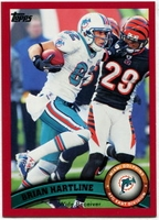 2011 Topps Red Brian Hartline NFL Football Card