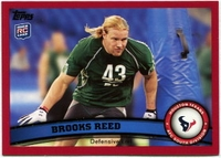 2011 Topps Red Brooks Reed NFL Football Card