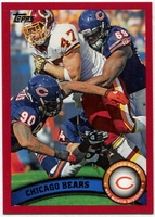 2011 Topps Red Chicago Bears Team Card NFL Football Card