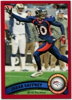 2011 Topps Red Jabar Gaffney NFL Football Card