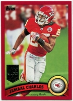 2011 Topps Red Jamaal Charles All-Pro NFL Football Card