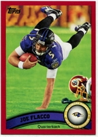 2011 Topps Red Joe Flacco NFL Football Card