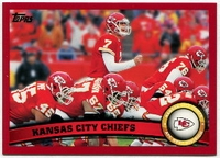 2011 Topps Red Kansas City Chiefs Team Card With Matt Cassel NFL Football Card