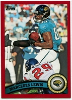 2011 Topps Red Marcedes Lewis NFL Football Card