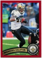 2011 Topps Red Marques Colston NFL Football Card