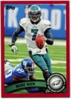 2011 Topps Red Michael Vick NFL Football Card