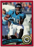 2011 Topps Red Mike Thomas NFL Football Card