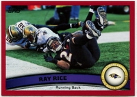 2011 Topps Red Ray Rice NFL Football Card