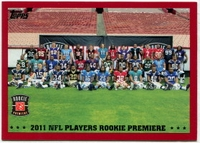 2011 Topps Red Rookies Premiere NFL Football Card