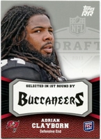 2011 Topps Rising Rookies Adrian Clayborn Rookie NFL Football Card