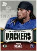2011 Topps Rising Rookies Alex Green Rookie NFL Football Card