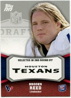 2011 Topps Rising Rookies Brooks Reed Rookie NFL Football Card