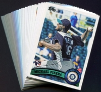 2011 Topps Seattle Mariners Baseball Cards Team Set