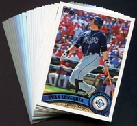 2011 Topps Tampa Bay Rays Baseball Cards Team Set