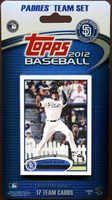 2012 San Diego Padres Topps MLB Factory Baseball Cards Team Set