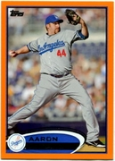 2012 Topps Factory Set Orange Aaron Harang Baseball Card