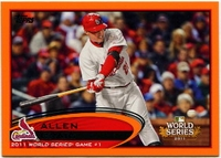 2012 Topps Factory Set Orange Allen Craig World Series Highlight Baseball Card