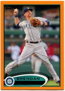 2012 Topps Factory Set Orange Brendan Ryan Baseball Card