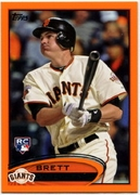 2012 Topps Factory Set Orange Brett Pill Baseball Card