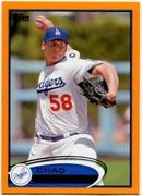 2012 Topps Factory Set Orange Chad Billingsley Baseball Card