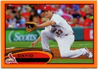 2012 Topps Factory Set Orange David Freese Baseball Card