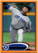 2012 Topps Factory Set Orange Edinson Volquez Baseball Card