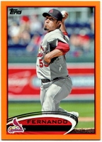 2012 Topps Factory Set Orange Fernando Salas Baseball Card
