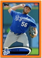 2012 Topps Factory Set Orange Greg Holland Baseball Card
