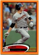 2012 Topps Factory Set Orange Jed Lowrie Baseball Card