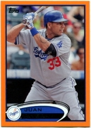 2012 Topps Factory Set Orange Juan Rivera Baseball Card