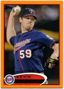 2012 Topps Factory Set Orange Kevin Slowey Baseball Card