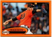 2012 Topps Factory Set Orange Madison Bumgarner Baseball Card