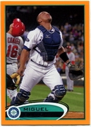 2012 Topps Factory Set Orange Miguel Olivo Baseball Card