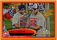 2012 Topps Factory Set Orange St Louis Cardinals World Series Highlight Baseball Card