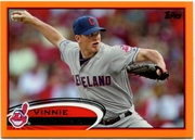 2012 Topps Factory Set Orange Vinnie Pestano Baseball Card